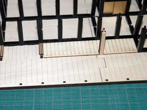 「週刊 安土城をつくる」 一回の床を組み込む