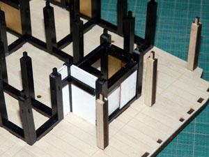 「週刊 安土城をつくる」 襖を立てて敷居を組む