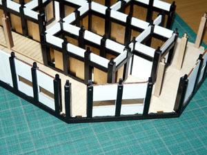 「週刊 安土城をつくる」 一階の外壁を立てる