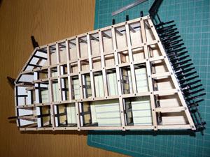 「週刊安土城をつくる」 一階の梁を組む