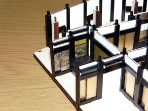 「週刊安土城をつくる」 壁を組み入れる