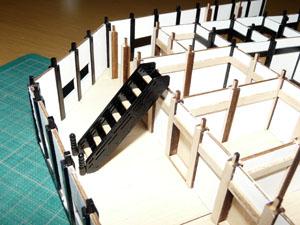 「週刊安土城をつくる」 階段を組む