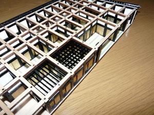 「週刊安土城をつくる」 一階南側の天井を組む