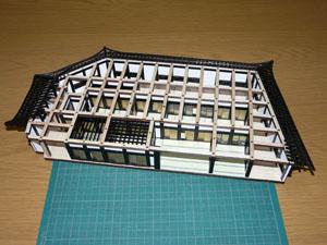 「週刊安土城をつくる」 一階北側の天井を組む
