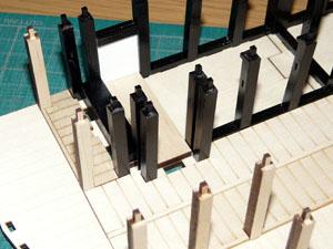 「週刊安土城をつくる」 柱を立てる