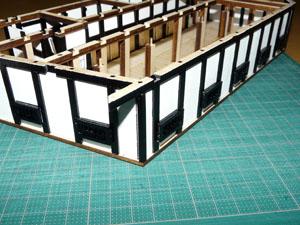 「週刊安土城をつくる」 窓を組み入れる