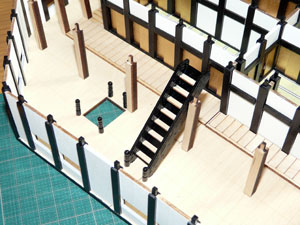 「週刊安土城をつくる」 二階北側の階段をつくる