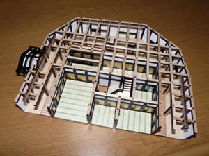 「週刊安土城をつくる」 二階北側の桁をつける