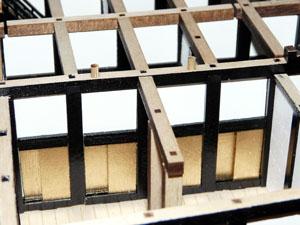 「週刊安土城をつくる」 三階北側の塗装を修正する