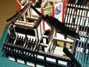 「週刊安土城をつくる」 大きい垂木をつける