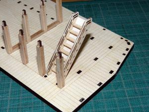 「週刊安土城をつくる」 階段をつくる