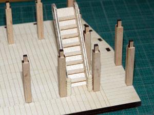 「週刊安土城をつくる」 階段をつける