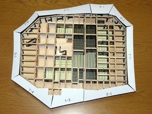 「週刊安土城をつくる」 屋根型紙をつくる