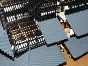 「週刊安土城をつくる」 二階北側の屋根をつくる