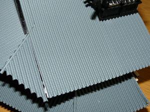 「週刊安土城をつくる」 三階南側の屋根をつくる