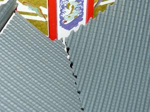 「週刊安土城をつくる」 四階北側の屋根をつくる