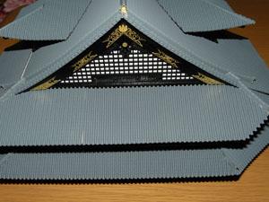 「週刊安土城をつくる」 三階北側の屋根をつくる