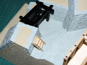 「週刊安土城をつくる」 地階の門を立てる