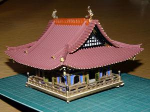 「週刊安土城をつくる」 六階の屋根をつくる