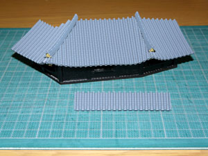「週刊安土城をつくる」 地階櫓門の屋根をつくる