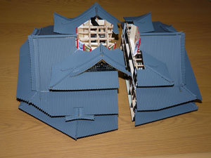 「週刊安土城をつくる」 棟瓦をつける