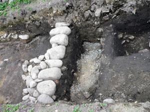 土清水塩硝蔵発掘現場