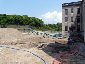 旧石川県庁 発掘調査現場
