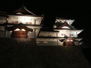 金沢城ライトアップ