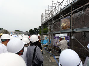 金沢城河北門復元 現場説明会第一回 石垣工事編