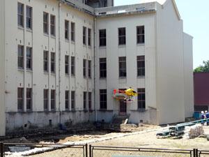 旧石川県庁北側発掘現場 金沢城堂形跡