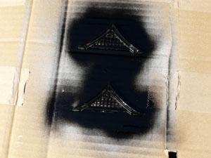 「安土城をつくる」 六階の破風板を作る