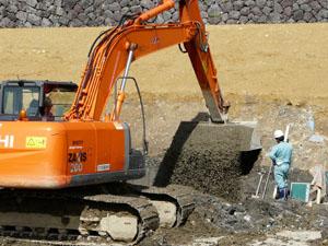 金沢城いもり堀工事