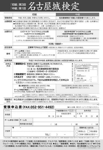 名古屋城検定