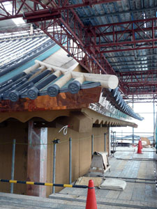 金沢城 河北門進む屋根工事