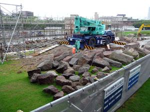 金沢城 いもり堀鯉喉櫓台 石積み工事