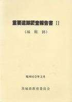 重要遺跡調査報告書Ⅱ (城館跡)