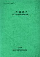 三春城跡Ⅴ 平成16年度試堀調査報告書 三春町文化財調査報告書第30集