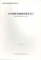 小川城跡発掘調査報告書Ⅱ 信楽町文化財調査報告書第2集