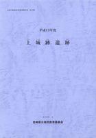 平成13年度 上城跡遺跡 日南市埋蔵文化財調査報告書第16集