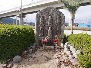 宮代の六体地蔵石仏 福井県美浜町