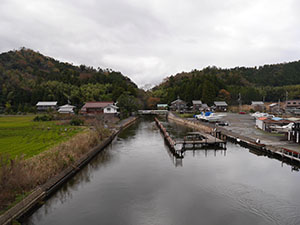 浦見川(浦見運河) 福井県美浜町