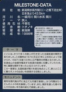 久比岐野川街道一里塚 関川