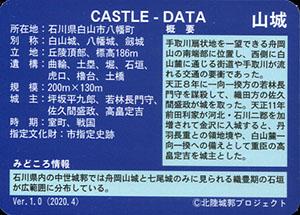 舟岡山城 いしかわ城郭カード