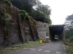 行き止まりトンネル(山中ロックシェッド)
