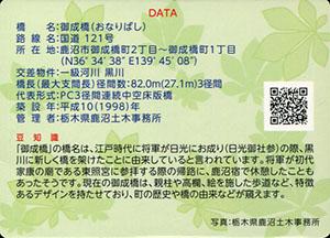 御成橋 とちぎ橋カード