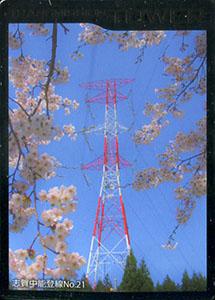 鉄塔カード 北陸電力送配電