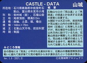 石場山城 いしかわ城郭カード