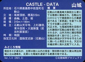 石動山城 いしかわ城郭カード