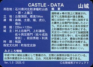 龍ヶ峰城 いしかわ城郭カード