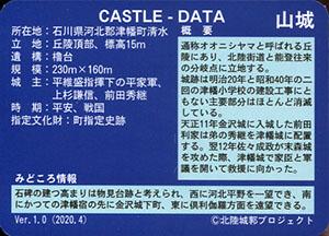 津幡城 いしかわ城郭カード